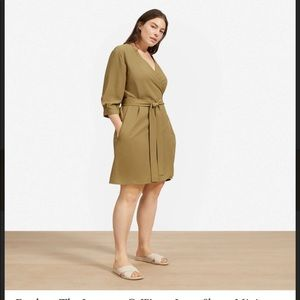 NWT Everlane Wrap Green Dress size 8